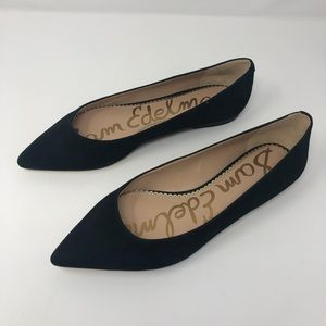 NEW Sam Edelman| Rae Suede Leather Point Toe Flats
